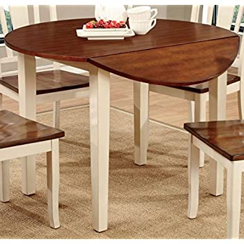 Amazon.com - Jofran Simplicity Round Wood Drop Leaf Table in ...