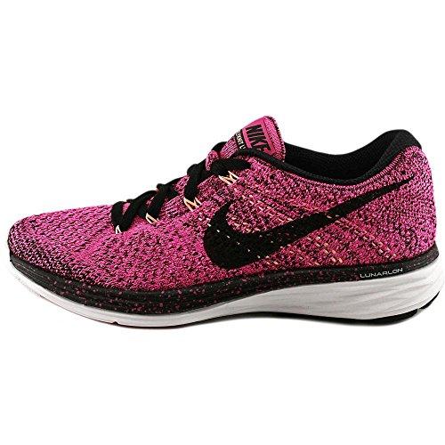 NikeFlyknit Lunar3 - Zapatillas de Running Mujer Pink Foil-Black-Pink Pow