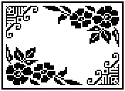 Art Deco Placemat: Bold Designs and Tea Roses in Filet Crochet