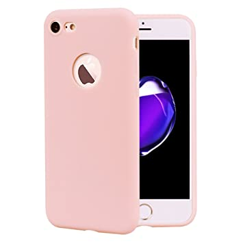 coque iphone 8 matte rose