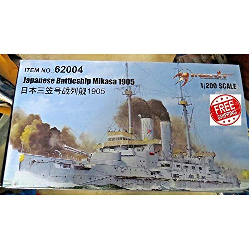 HASWINGOUTDOOR Merit 62004 1/200 Japanese Battleship Mikasa 1905 Military Ship Model Kit