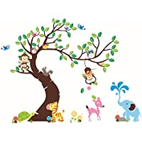 Rainbow Fox Lovely Blooms Zoo Nursery Children's Room...