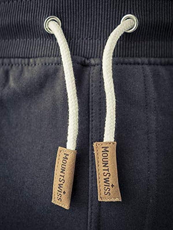 Mount Swiss Liam krÓtkie spodenki, męskie, na czas wolny, do biegania, 100% bawełna: Odzież