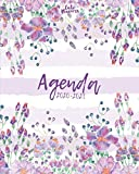 Agenda 2020-2021: Agenda 2020 -2021: Cute Planners / Pretty  White & violet  floral Two Year Daily Weekly planner organizer ( Jan 2020 - Dec 2021 ) Agenda with Holidays, 24 Months / women's agenda