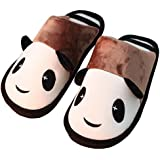 Winter Men's Cotton Cute Panda Warm Slippers Indoor Home Slippers Shoes