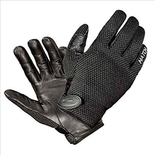 Police Leather Gloves - Hatch CT250 Cooltac  Police Duty Glove, Black, Medium