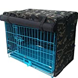 Vedem Pet Polyester Waterproof Kennel Crate Cover for Wire Crates (L, Camouflage-Green)