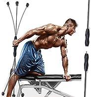 LEKÄRO Elastic Fitness Bar,Fitness Training The springback Bars 63 inch 2021 Multifunctional detachable Fiberg
