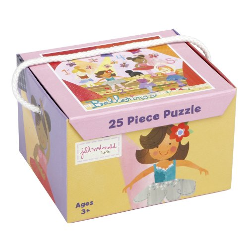 C.R. Gibson 'Ballerinas' 25 Piece Jigsaw Puzzle Game for Kids, 25pc ()