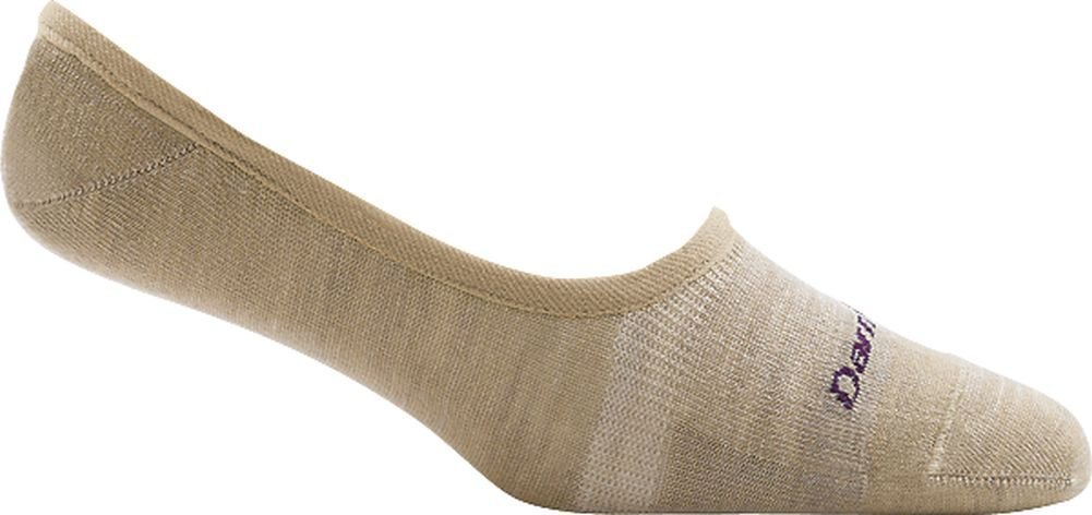Darn Tough Top Down Solid No Show Light Sock - Women's Oatmeal Medium