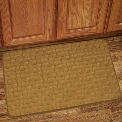 The Pecan Man Tan Memory Foam Anti Fatigue Kitchen Floor Mat Rug ,1Pcs 18 x 30