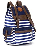 Canvas Backpack Rucksack Unisex Satchel School Bag