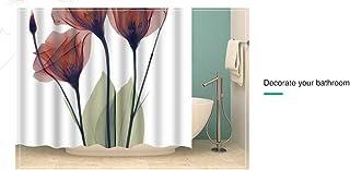 LIUYUNE,Tenda da Doccia in Papavero di Mais Stampa 3D con 12 Ganci 180 x 180 cm Color:Multi