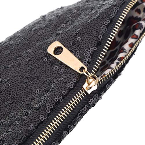 and Handbag Small Hexingshan Elegant Modern Special Sequin Black Bag xIPCUHqC