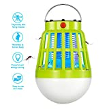 Vexverm Solar Insect Zapper, Solar & USB Rechargeable Bug Zapper Mosquito Zapper- 3 Modes Insect Mosquito Worm Bug Flies Mothes Killer LED Lamp for Camping Picnic Hiking