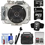 Intova Connex 1080p HD Waterproof Video Action Camera Camcorder (200 ft/60m) with Remote + 32GB Card + Case + Monopod Selfie Stick + Kit