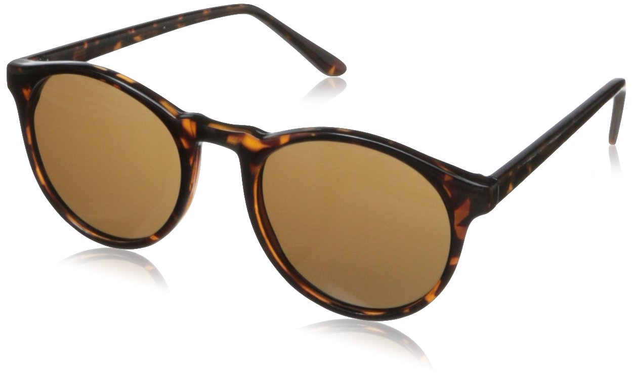 A.J. Morgan Unisex - Adult Grad School Round Sunglasses,Tortoise,198 mm