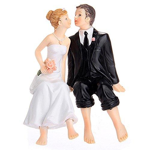 - Riverbyland Sitting Couple Figurine Wedding Cake Topper