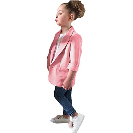 Baby Girl Coat,Fineser Toddler Baby Girls Long Sleeve Solid Suit Fashion Coat Tops Clothes