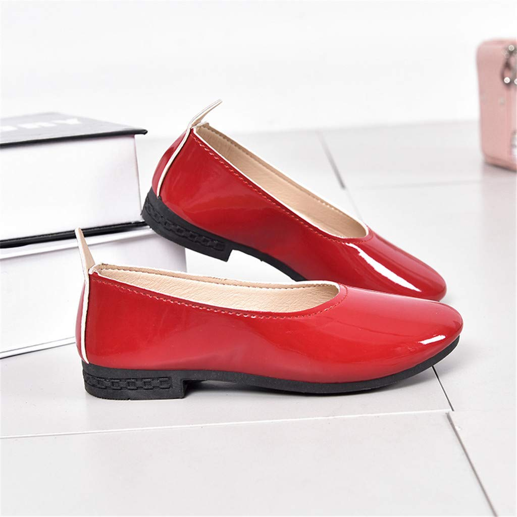 CLEEYYS Fashion Girls Shallow Mouth Princess Small Shoes Girls Low-Heeled Shoes