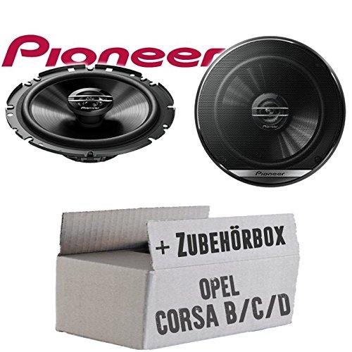 Opel Corsa B/C/D - Lautsprecher Boxen Pioneer TS-G1720F - 16cm 2-Wege Koax Koaxiallautsprecher Auto Einbausatz - Einbauset JUST SOUND best choice for caraudio OpCoBCD_TS-G1720F