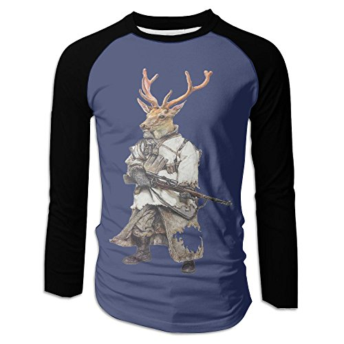 Used, Men's 98k Deer Soilder Art Clipart Cotton Long Sleeve for sale  Delivered anywhere in USA