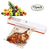 Vacuum Sealer Machine Automatic Vacuum Sealing System for Food Preservation Food Saver Compact Food Sealer with 15PCS Sealer Bags