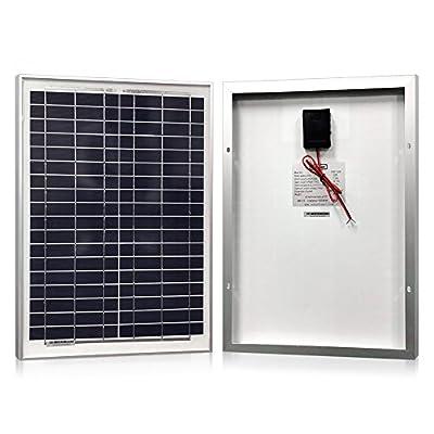 Powereco Solar Panel 20 Watt, Polycrystalline 20W Solar Charger for 12V Battery Charging