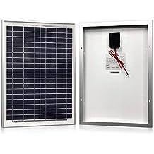 Solar Panel 20 Watt, Powereco Polycrystalline 20W Solar Charger for 12V Battery Charging
