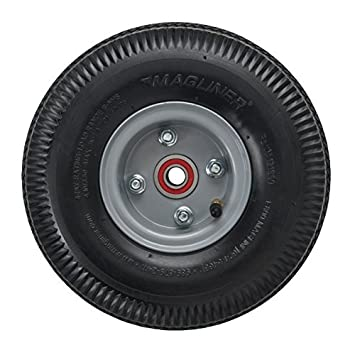 Magline 121060 10 Diameter Pneumatic Wheel with Red Sealed Semi-Precision Ball Bearings Inc.