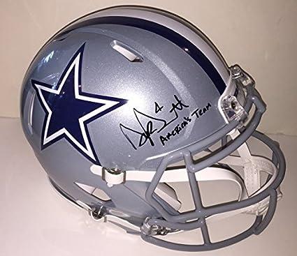 8c468ffc817 Image Unavailable. Image not available for. Color  Dak Prescott Autographed  Dallas Cowboys Pro Authentic Helmet. Signed with ...