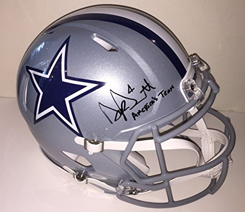 Helmet Dallas Autographed Cowboys Pro - Dak Prescott Autographed Dallas Cowboys Pro Authentic Helmet. Signed with