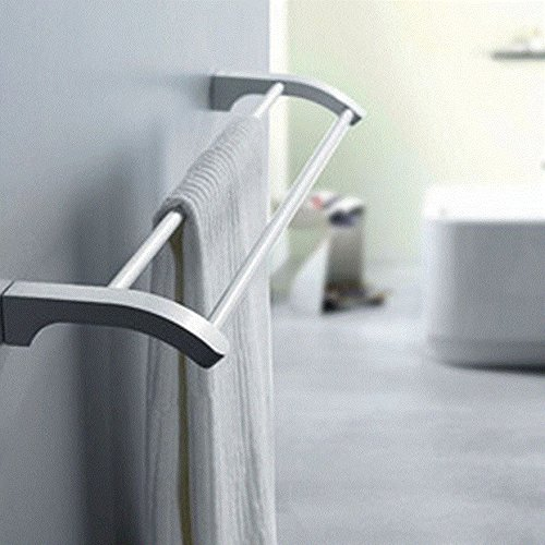 LVLIDAN Towel rail rack Contemporary Bathroom aluminum Double layer Wall-mounted 50cm