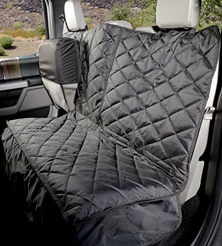 4Knines Crew Cab Rear Bench Seat Cover with Hammock - Heavy-Duty - Waterproof (Black)