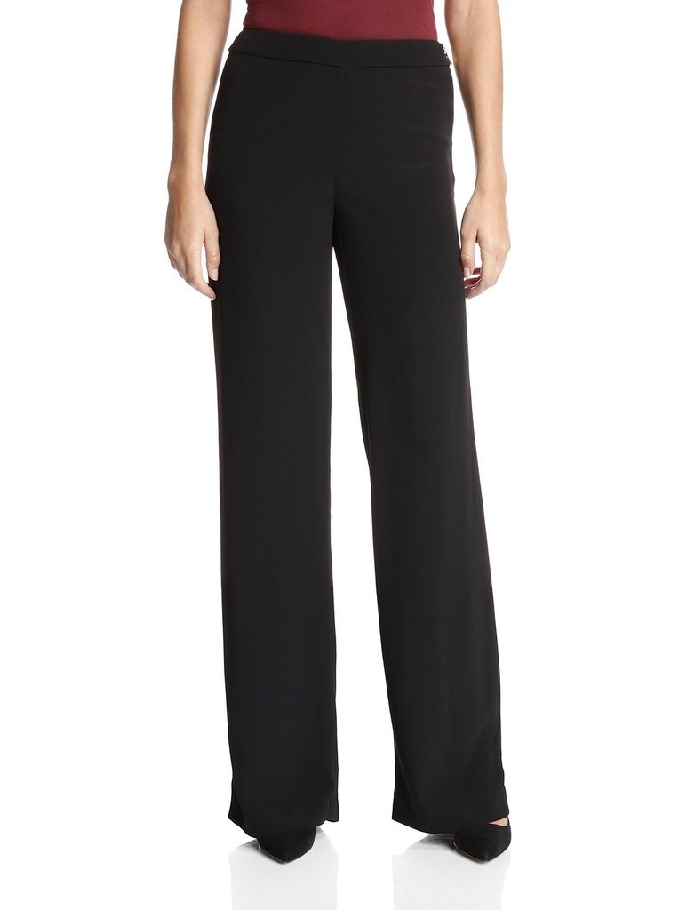 French Connection Womens Emmeline Crepe Flared Trouser 10 Black