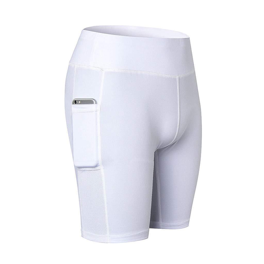 Alalaso Womens Butt Lifting Shorts Leggings High Waisted Workout Sport Tummy Control Gym Yoga Hot Pants White