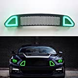 #10: Vakabva Ford Mustang Grill Front Bumper Grille with Green DRL Light Ford Mustang Grill for 2015 2016 2017 Ford Mustang