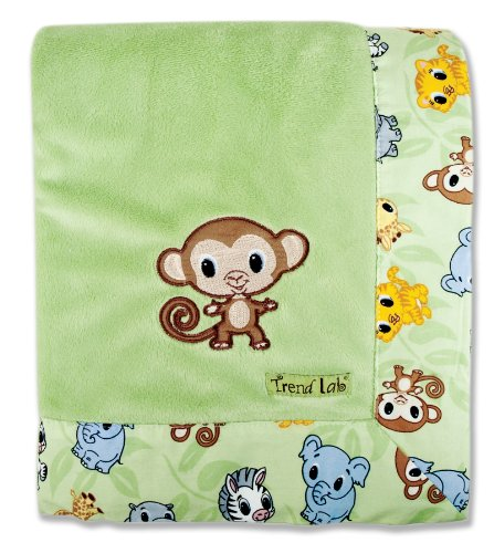 Trend Lab Blanket Embroidery Velour