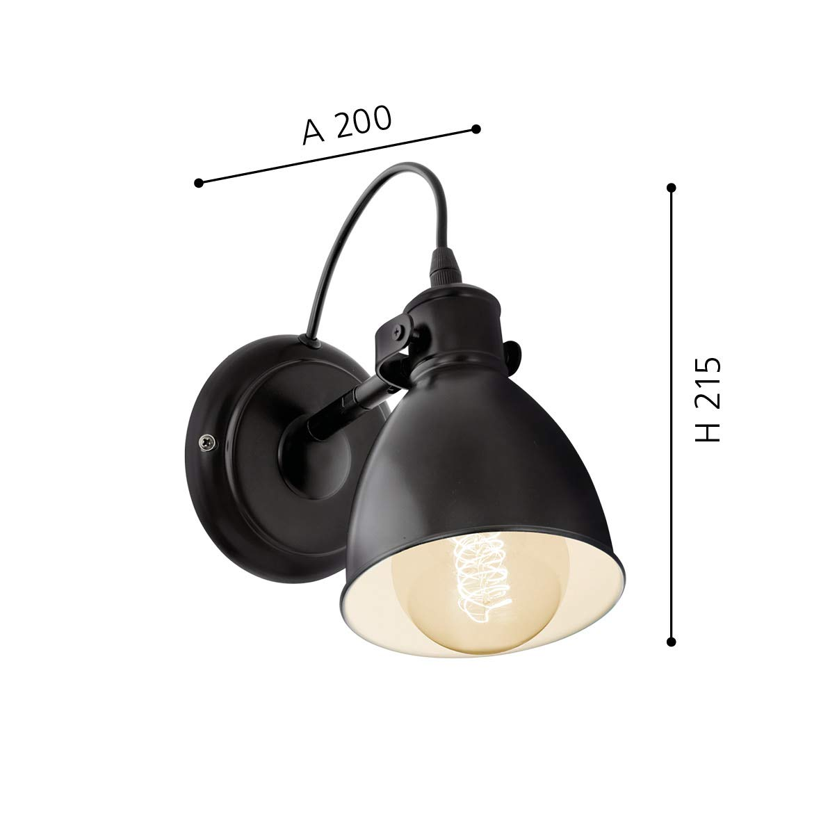 EGLO 49464 Pendelleuchte schwarz