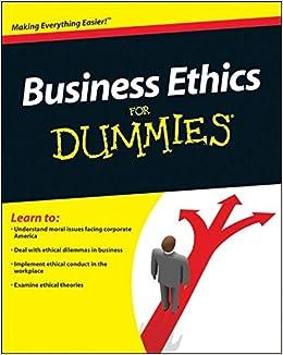 Business Ethics For Dummies Epub Descargar