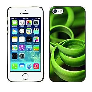 X-ray Impreso colorido protector duro espalda Funda piel de Shell para Apple iPhone 5 / iPhone 5S - Grass Green Black Nature