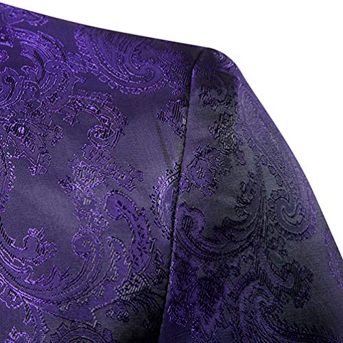 De Et Fit Simple Vetements Un Manteau Jeune Violet Slim Costumes Vestes Bouton Luxe Pour 3xl Costume Blazer Sombre Imprimé Homme Décontracté Boucle Wanyangg xqvUagwU