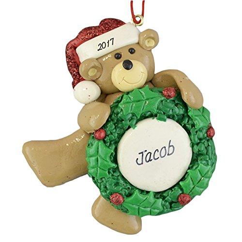 Boy Teddy Bear Ornament - Bear Personalized Christmas Ornament - For Boy or Girl - Calliope Designs - 4