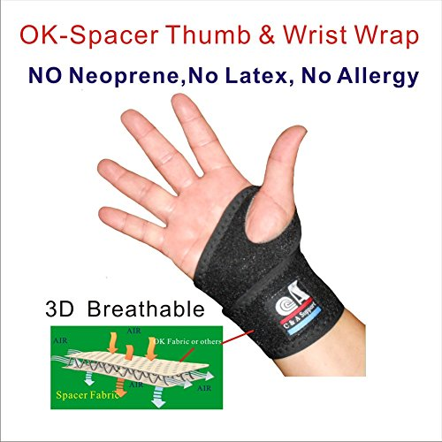 IRUFA,WR-OS-15, 3D Breathable Elastic Knit Fabric Thumb & Wrist Brace Support Wrap, One PCS for Volleyball Badminton Tennis Basketball Weightlifting,Baseball, Yoga,GYM by IRUFA