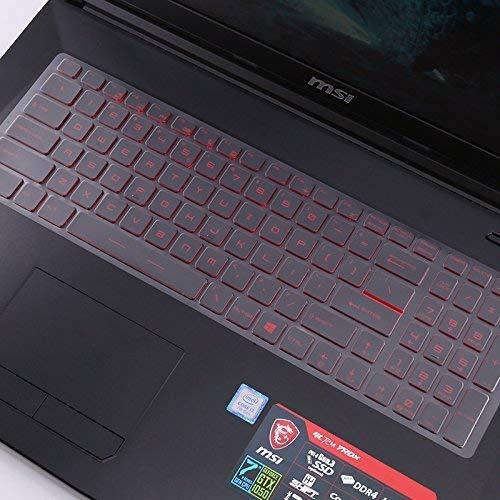 Saco Chiclet Keyboard Skin for MSI Gaming MSI GL63 8RD 2018 15.6-inch Laptop – TPU