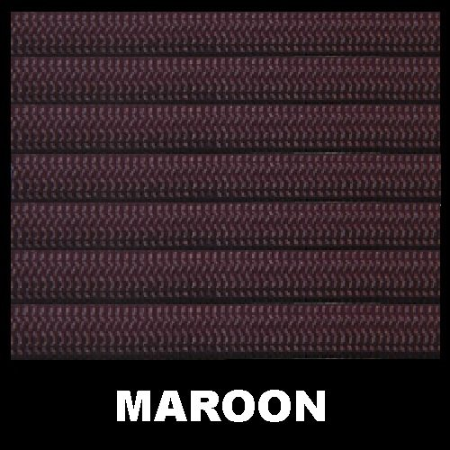 Maroon 1000ft Solid 550 Type 3 Paracord 7 Strand Nylon Parachute Cord by Aspero Gear