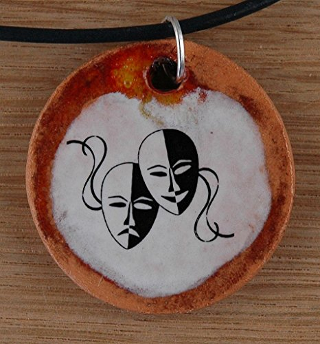 Orginal handicraft: Carnival; Venice, masked ball, jester, costume, mask costume masque, masquerade, jewellery, jewelry, handcrafted necklace, best gift, art, ceramic -