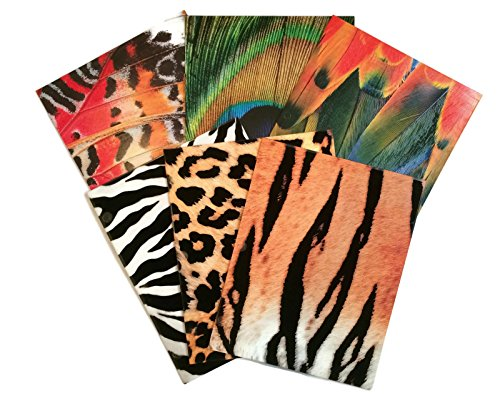 (Textured Animal Print School Supply Bundle: 6 Items: Six Assorted Kittrich Subject Folders)