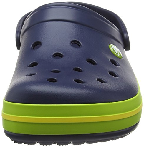 b3a39d63e0ce0 crocs Unisex s Crocband Navy Volt Green or Lemon Clogs-M4W6 (11016)  Buy  Online at Low Prices in India - Amazon.in