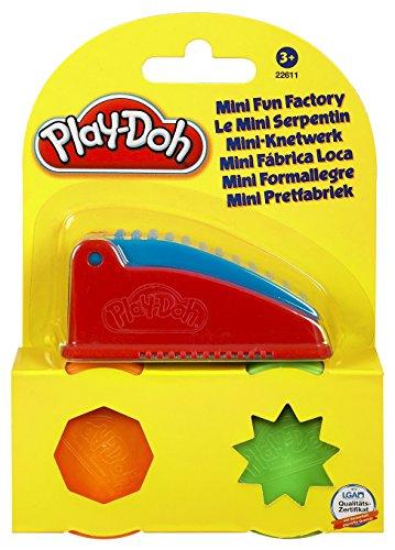 Kit Mini Fábrica Divertida Play-Doh, Hasbro, Verde e Laranja, 2 Potes
